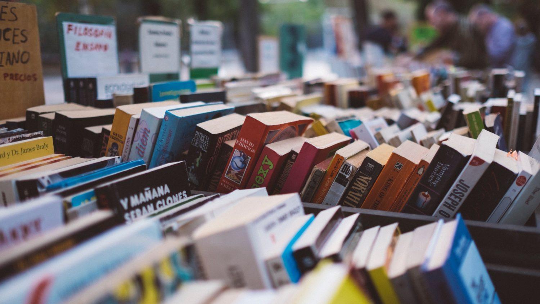 Books in a store